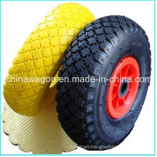 3.00-4 PU Solid Foam Tubeless Wheel for Wheelbarrow