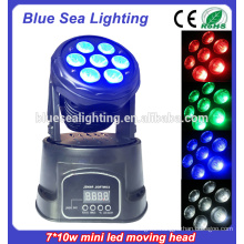 NEW 7pcs 10w rgbw 4in1DMX led small moving head light