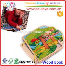 2015 Libro de madera de la granja del producto nuevo educativo juguete vendedor caliente