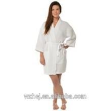 International women's waffle kimono bathrobe