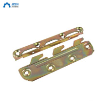 Custom color zinc plated metal bed hardware fittings