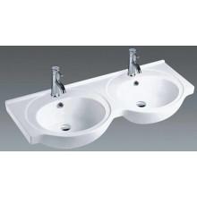 Ванная комната Керамические двойные миски Тщеславие бассейна (1201)