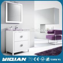 Hangzhou Freestanding MDF High Gloss Paint Mirror Bathroom Sink Cabinets