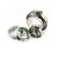 304 Stainless Steel V Band Clamps for Sanitary Ferrule with Flanges