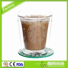 Double Walled Glasss Cup Mug