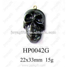 Hematite Skull Heads Pendants