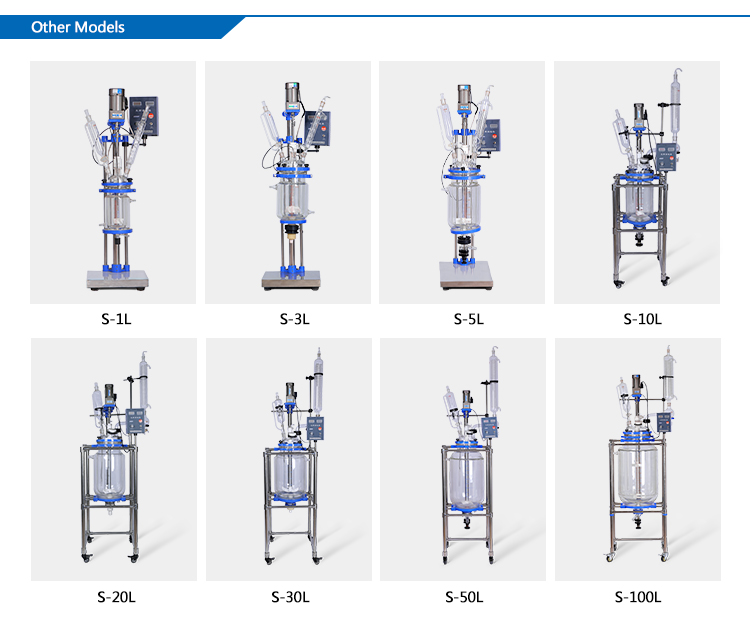 20L High Quality Vacuum Jacketed Glass Reactor