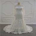 Long Sleeve Ivory Muslim Lace Wedding Dress