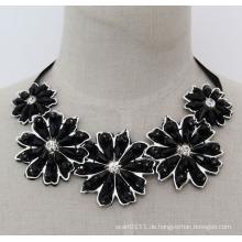 Handgemachte Perlen Kristall Mode Charme Chunky Bib Kostüm Choker Halskette (JE0005)