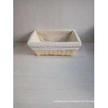 High Quality Handmade Basket with Lining in Stock