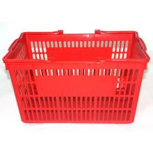 Cesta de compras plástica do punho colorido