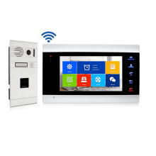 4wire 960P WiFi Video door phone Intercom with Fingerprint Call Panel door camera