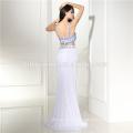 2017 Bluestone Silk Chiffon Tie Neck Evening Gown Latest Gown Designs Maxi Dress