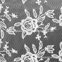 Embroidery Lace Fabric with Elasticity