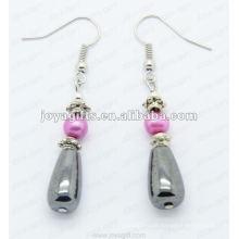 Magnetische Hämatit Drop Perlen Ohrringe
