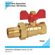Brass Ball Valve with Union and Butterfly Handle