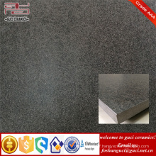20mm thickness black rustic Non-Slip glazed porcelain floor tiles for Square