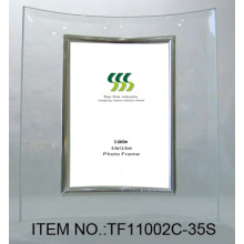 Curved Glass Photo Frame with Black Imprint