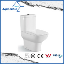 Siphonic Two Piece Dual Flush Round Front Bowl Toilet (ACT7303)