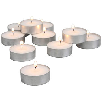Kokusuz Tea Lights 100 / Pkg Beyaz tealight mumlar