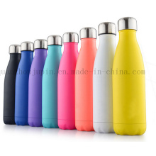 OEM Print Logo Colorful Stainless Steel Thermos Vacuum Flask Bottle