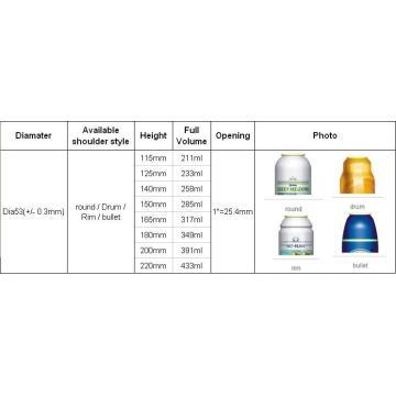 Aerosol Spray Cans for Face Cream (BN-Aerosol can-Dia53mm)