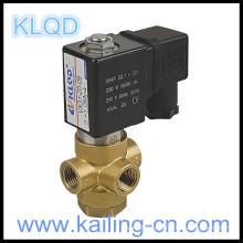Électrovanne avec valve solénoïde en laiton série 3/24 DC24V / VX31 / 32/33 / électrovanne à action directe 3/2 voies pour 1.6MPa