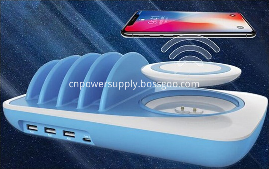 3 In 1 Wireless Charging Pad Phone Holder Multi Usb Charger
