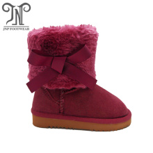 Best Quality for Children Snow Boots Kids Winter Young Girl Burgundy Half Boots export to Nigeria Exporter