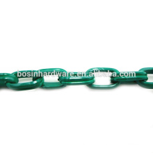 Fashion High Quality Metal Aluminum Double Oval Green Cable Chain
