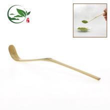 Atacado artesanal de bambu dourado colher de chá de material
