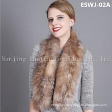 Natural Fox Scarf Eswj-02A