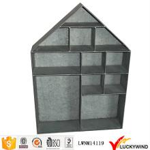 Vintage Industrial Metal colgante forma de la casa estante