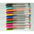 Plastic Stick Ball Pen with 12 Colors