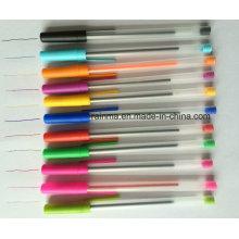 Caneta esferográfica de plástico com 12 cores