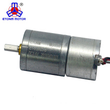 efficient dc precise gear motor CE ROHS approved 12v 25mm