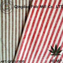Hilados de teñido de cáñamo / Organic Cotton Stripe Fabric (QF13-0005)