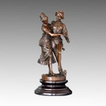 Tänzerin Statue Ballsaal / Soziale Tanz Bronze Skulptur, Gaudez TPE-398