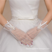 Hot sale cheap fingerless lace appliques bridal wedding lace gloves