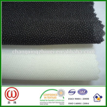 High quality woven interlining textile fabric pa pes fabric