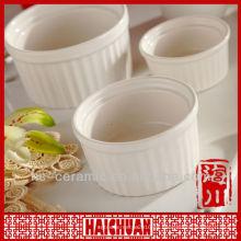 Ramekin de la porcelana 3pcs, bakeware del ramekin
