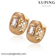 29911-Xuping Promotion prix 18K boucles d'oreilles en or en gros avec de la pierre