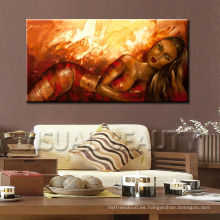 Pintura al óleo desnuda de la mujer para la decoración de la pared