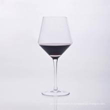 Verre à vin à tige unique soufflé à la bouche