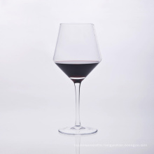Unique Shape Mouth Blown Stem Wine Glass
