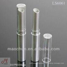 LS6061 matte silver slim lipstick tube
