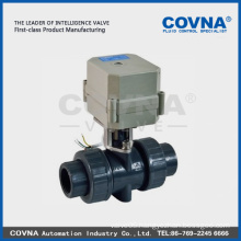 Plastic pvc ball valve 2 way motor electro valve