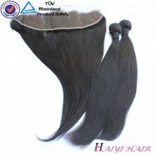 9A base de soie de haute qualité 13 * 4 cheveux de dentelle de Vierge frontale avec les cheveux naturels de bébé