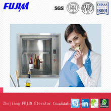 Capacity300kg Speed 0.5m/S Freight Lift Dumbwaiter Kitchen Elevator
