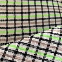 Tissu extensible à carreaux en polyester et viscose